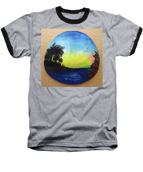 Seascape On A Sand Dollar Baseball T-Shirt