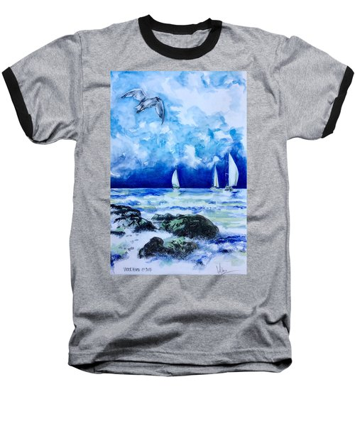 Seascape Baseball T-Shirt