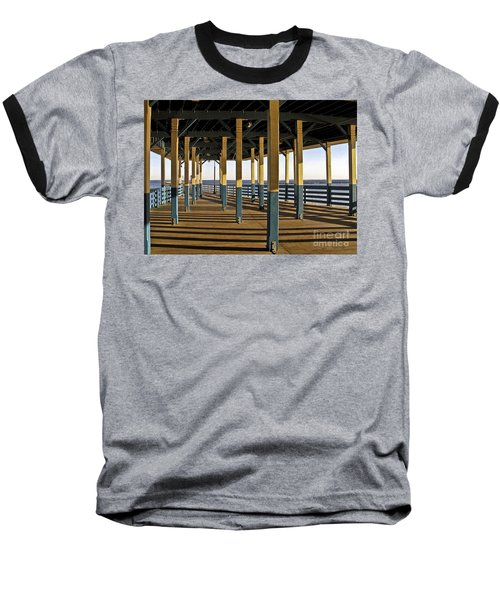 Seascape Walk On The Pier Baseball T-Shirt