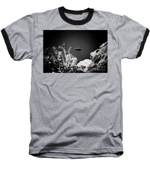 Seascape With Boat Artmif.lv Balck And White Baseball T-Shirt
