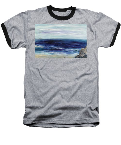 Seascape With White Cats Baseball T-Shirt