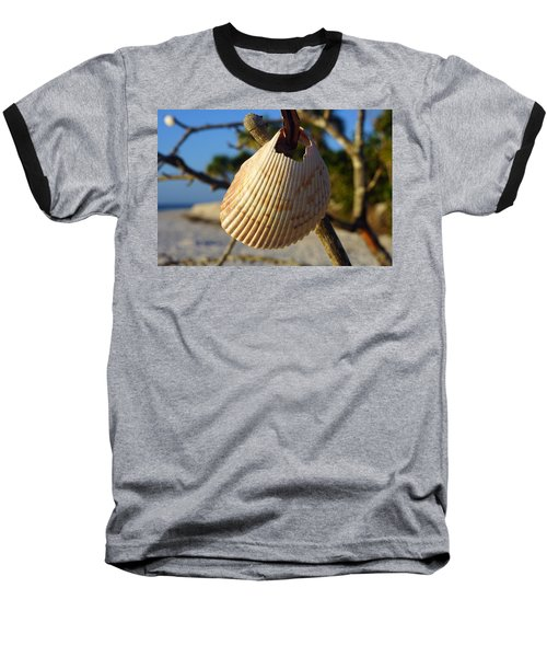 Cockelshell On Tree Branch Baseball T-Shirt