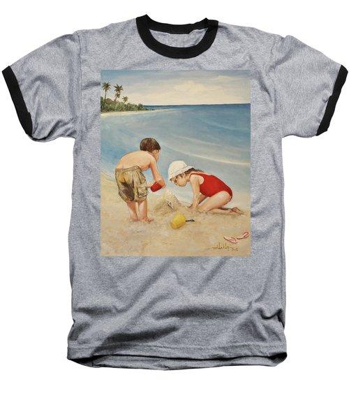 Seashell Sand And A Solo Cup Baseball T-Shirt