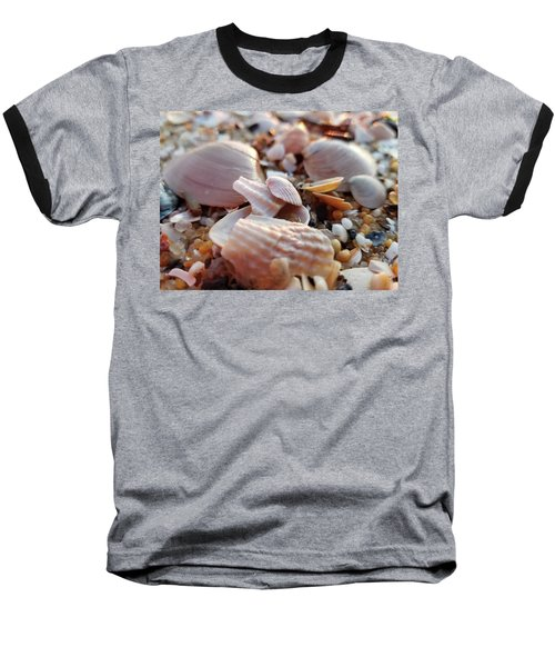 Seashells And Pebbles Baseball T-Shirt