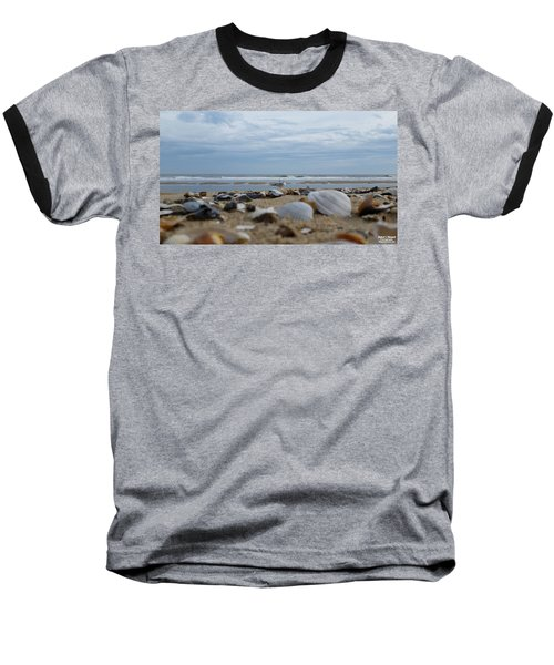 Seashells Seagull Seashore Baseball T-Shirt