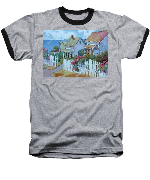Seaside Cottages Baseball T-Shirt
