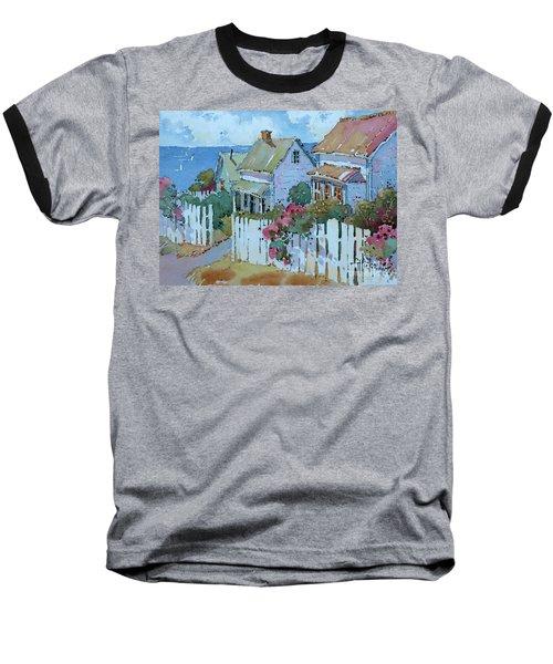 Seaside Cottages Baseball T-Shirt