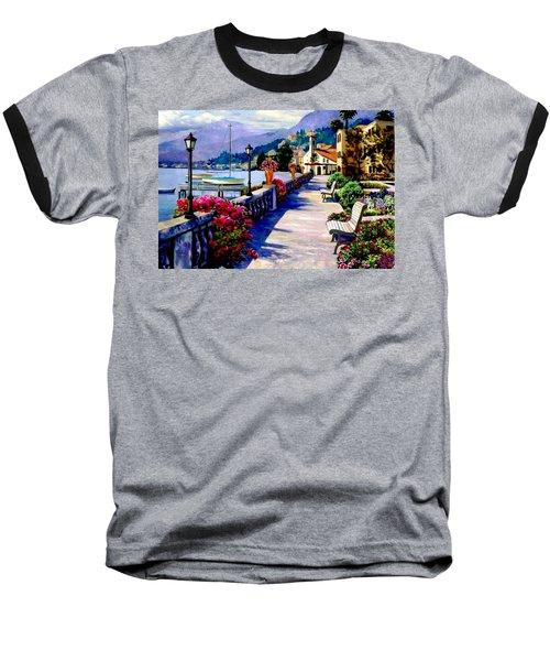 Seaside Pathway Baseball T-Shirt by Ron Chambers