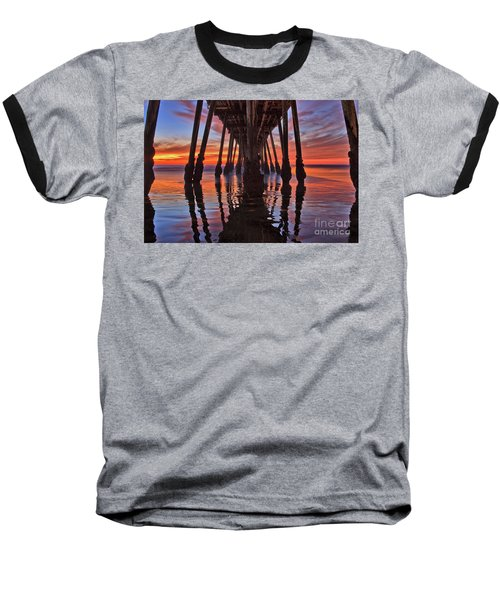 Seaside Reflections Under The Imperial Beach Pier Baseball T-Shirt