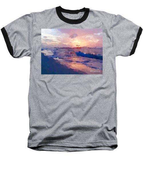 Baseball T-Shirt featuring the mixed media Seaside Swirl by Anthony Fishburne