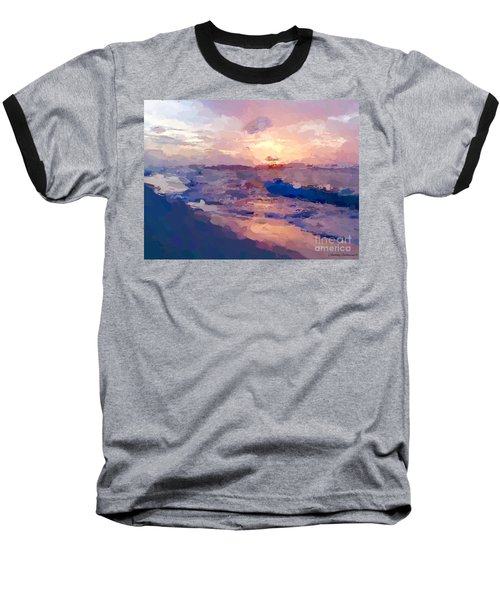 Seaside Swirl Baseball T-Shirt
