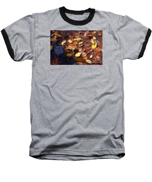 Baseball T-Shirt featuring the photograph Seasons by Diane E Berry