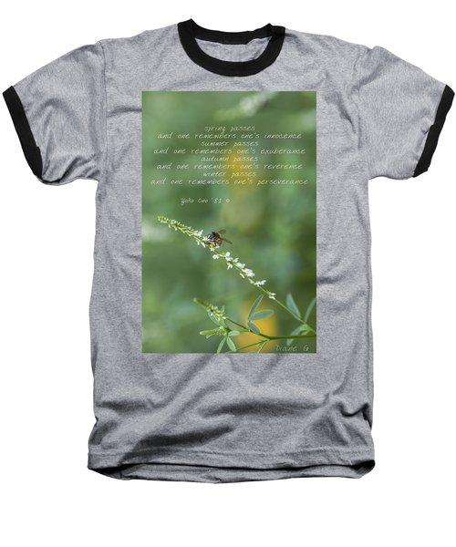 Seasons Baseball T-Shirt by Diane Giurco