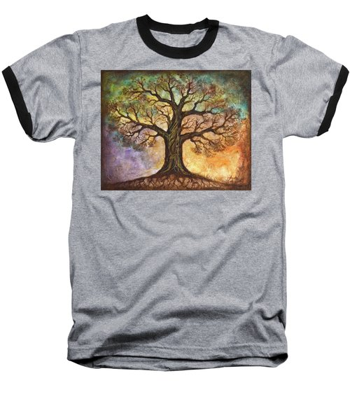 Baseball T-Shirt featuring the painting Seasons Of Life by Agata Lindquist