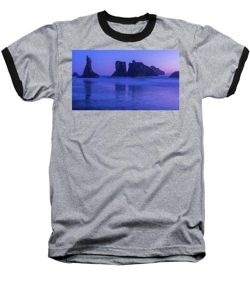 Seastack Sunset In Bandon Baseball T-Shirt