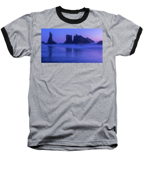 Seastack Sunset In Bandon Baseball T-Shirt