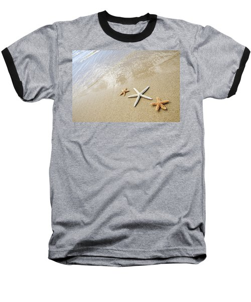 Seastars On Beach Baseball T-Shirt