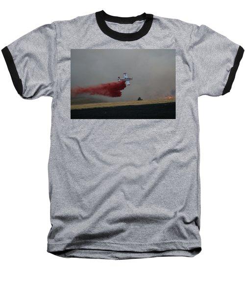 Seat Drops On Indian Canyon Fire Baseball T-Shirt by Bill Gabbert