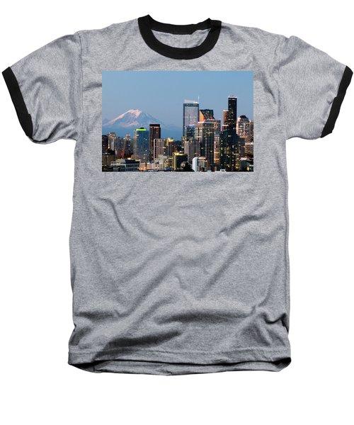 Seattle At First Light I Baseball T-Shirt by E Faithe Lester