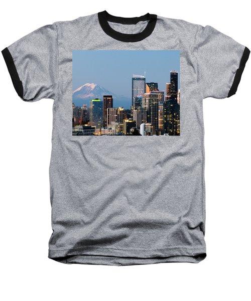 Seattle At First Light II Baseball T-Shirt by E Faithe Lester
