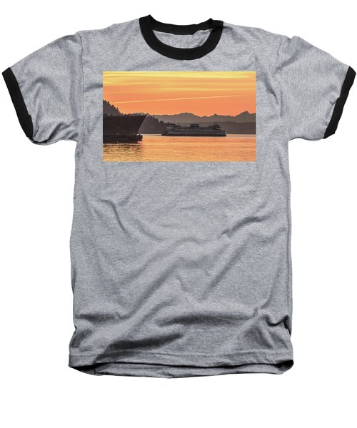 Seattle - Bremerton Ferry Baseball T-Shirt