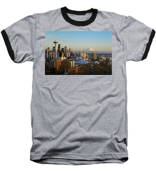 Seattle Cityscape Baseball T-Shirt