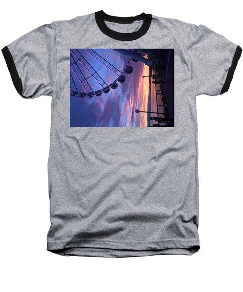 Seattle Ferris Wheel Baseball T-Shirt