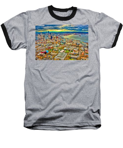 Baseball T-Shirt featuring the photograph Seattle by Jerry Cahill