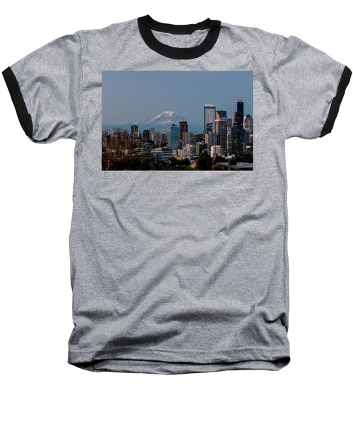 Seattle-mt. Rainier In The Morning Light .1 Baseball T-Shirt