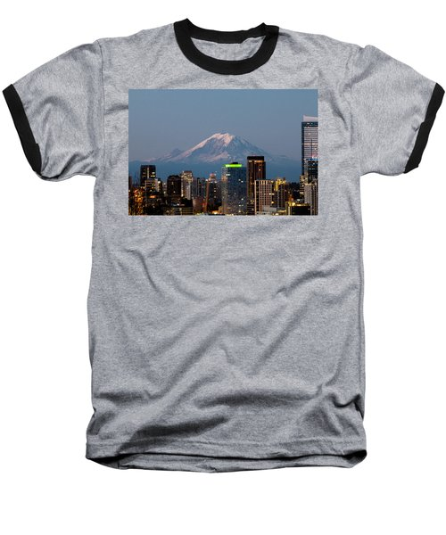 Seattle-mt. Rainier In The Morning Light.2 Baseball T-Shirt