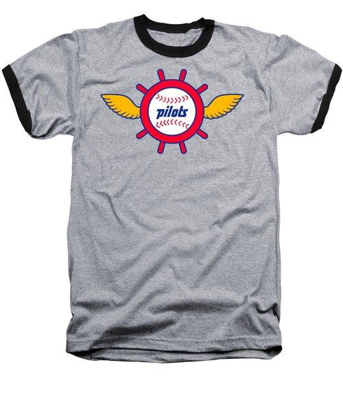 Seattle Pilots Retro Logo Baseball T-Shirt by Spencer McKain