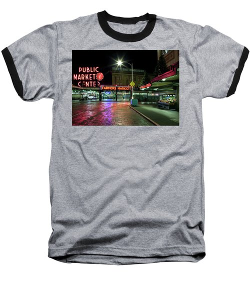 Seattle Public Market 1 Baseball T-Shirt