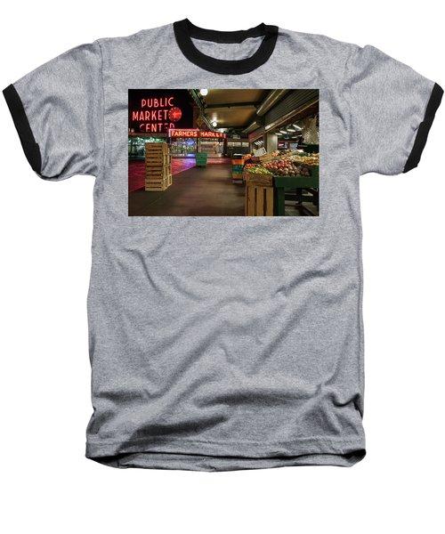 Seattle Public Market 2 Baseball T-Shirt