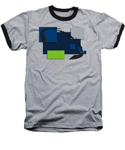 Seattle Seahawks Abstract Shirt Baseball T-Shirt by Joe Hamilton