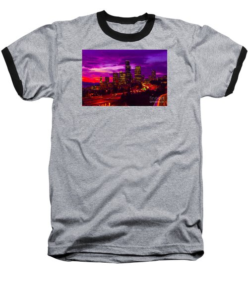 Seattle Shades Of Purple Baseball T-Shirt