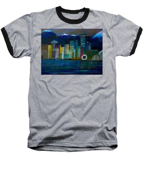 Seattle Skyiline Baseball T-Shirt