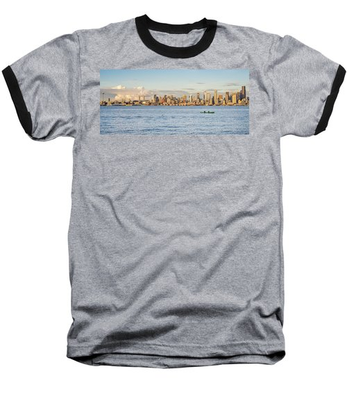 Seattle Skyline 2 Baseball T-Shirt