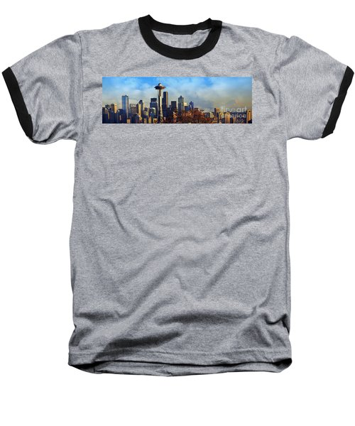Seattle Skyline Baseball T-Shirt