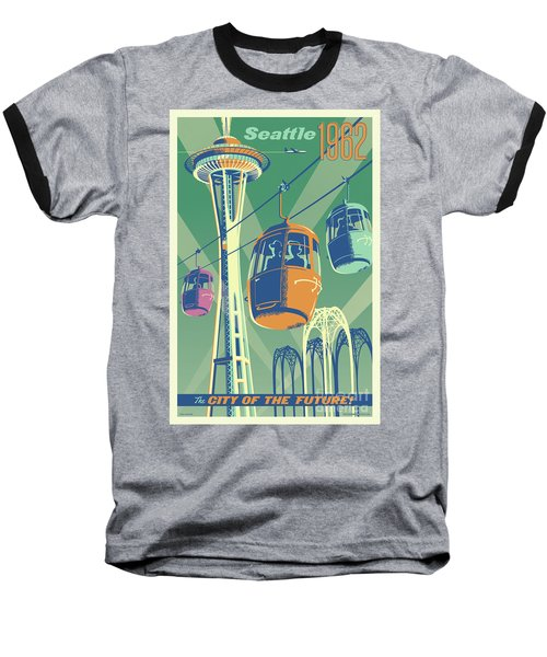 Seattle Space Needle 1962 - Alternate Baseball T-Shirt