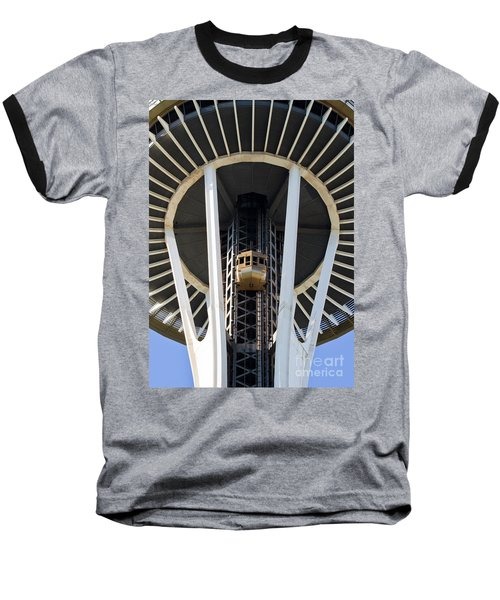 Baseball T-Shirt featuring the photograph Seattle Space Needle Elevator by Chris Dutton