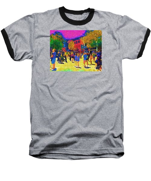 Seattle Street Scene Baseball T-Shirt