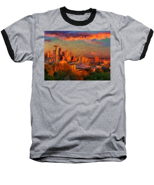 Seattle Sunset 1 Baseball T-Shirt