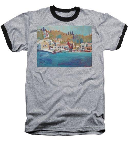 Seaview Lggos Paxos Baseball T-Shirt by Nop Briex