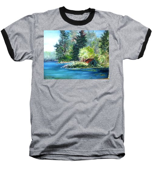 Secluded Boathouse-millsite Lake  Baseball T-Shirt