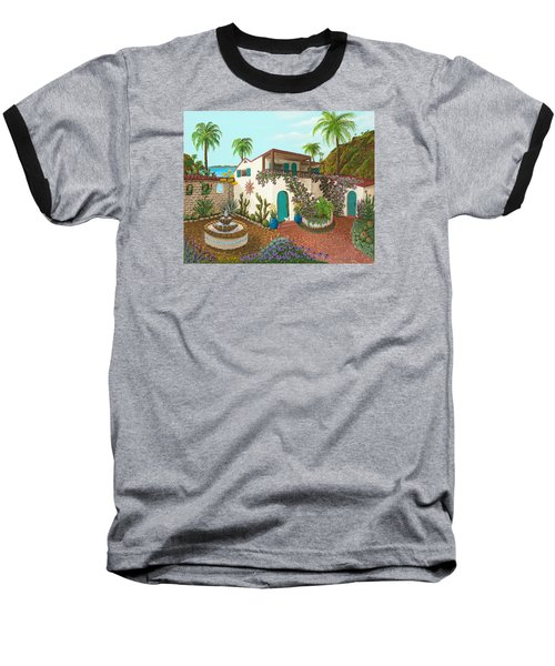Secluded Paradise Baseball T-Shirt by Katherine Young-Beck