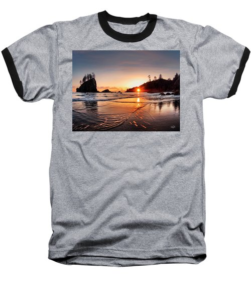 Second Beach 3 Baseball T-Shirt by Leland D Howard