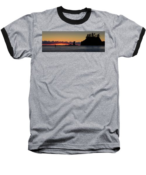 Baseball T-Shirt featuring the photograph Second Beach Silhouettes by Dan Mihai