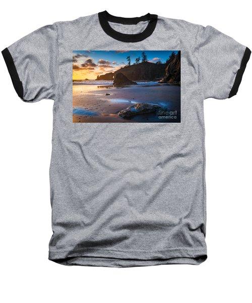 Second Beach Sunset Baseball T-Shirt