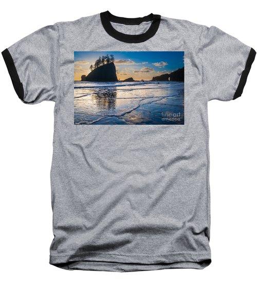 Second Beach Waves Baseball T-Shirt