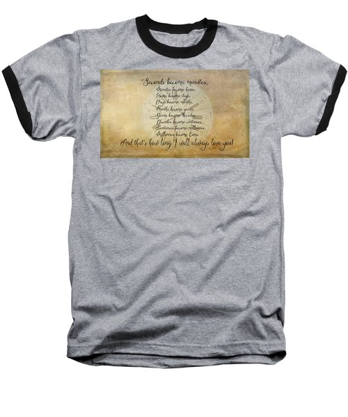 Seconds Become Eons Baseball T-Shirt